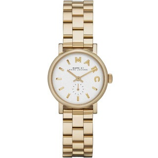 Marc Jacobs Women's MBM3247 Baker Mini Round Gold-tone Stainless Steel Bracelet Watch