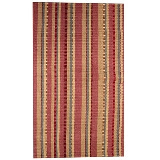 "Wine Silk Ribbed Rug (21"" x 34"")"