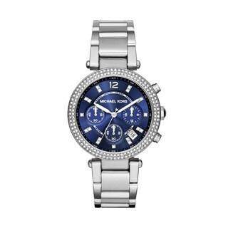 Michael Kors Women's MK6117 Parker Round Silvertone Stainless Steel Bracelet Watch