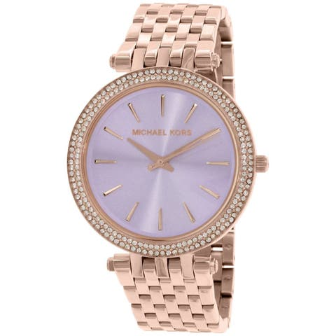 3e912519ced6 Michael Kors Women s MK3400 Darci Round Rose Gold-tone Stainless Steel  Bracelet Watch