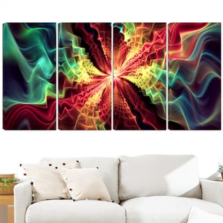 Design Art 'Hypnotize' 48x28-inch 4-panel Abstract Multi