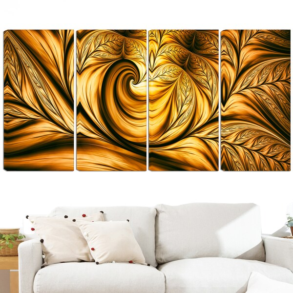 shop design art golden dream 48 x 28 inch 4 panel canvas art print