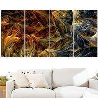 Design Art 'Red VS Blue' 48 x 28-inch 4-panel Abstract Canvas Art Print - Blue/Red