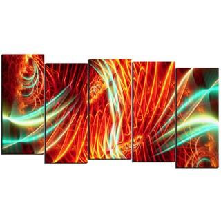 Design Art 'Light Show' 60 x 32-inch 5-panel Abstract Canvas Art Print