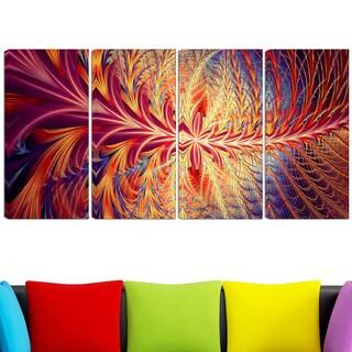 Design Art 'In Sync' 48 x 28-inch 4-panel Canvas Art Print