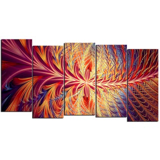 Design Art 'In Sync' 60 x 32-inch 5-panel Canvas Art Print