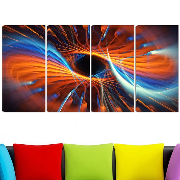design art centered 48 x 28 inch 4 panel canvas art print free