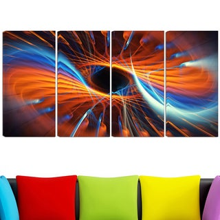 Design Art 'Centered' 48 x 28-inch 4-panel Canvas Art Print