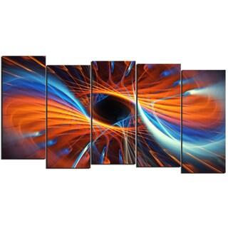 Design Art 'Centered' 60 x 32-inch 5-panel Canvas Art Print