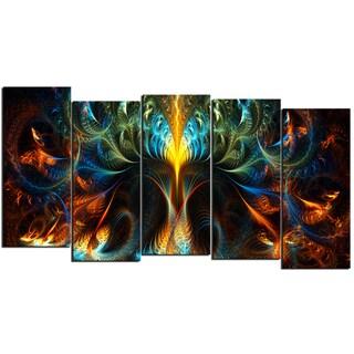 Design Art 'Never Ending' 60 x 32-inch 5-panel Abstract Canvas Art Print