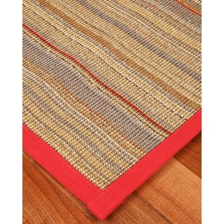 "Handcrafted Resort Sisal 2'6"" x 8' Rug - Red/Cherry Jubilee"