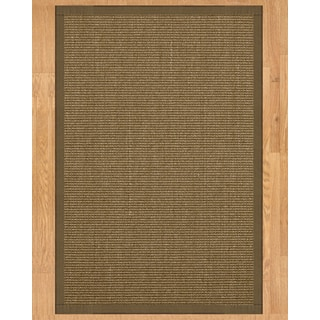 Handcrafted Sandstone Sisal 6' x 9' Rug - Fossil with Bonus Rug Pad