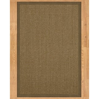 Handcrafted Sandstone Sisal 9' x 12' Rug - Fossil with Bonus Rug Pad