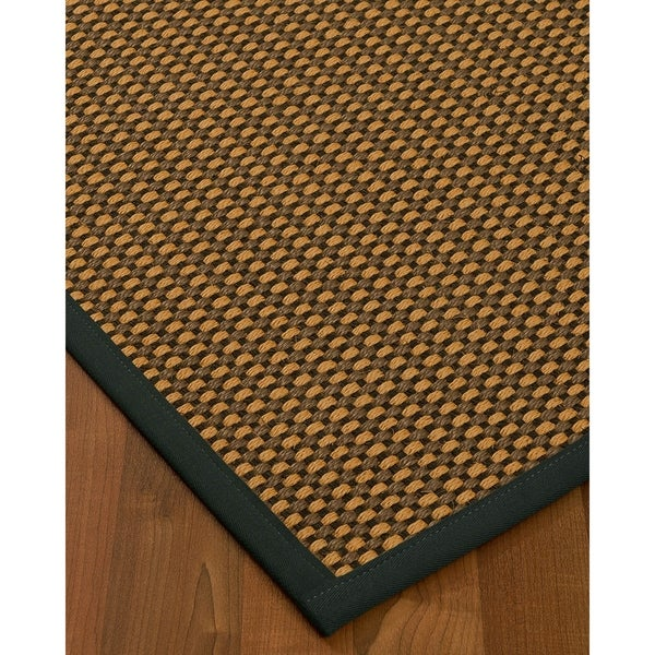 "Handcrafted Seaside Sisal 2'6"" x 8' Rug - Black - 2'6 x 8'"