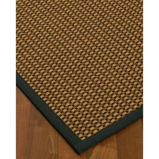 "Handcrafted Seaside Sisal 2'6"" x 8' Rug - Black"