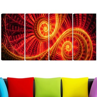 Design Art 'SunDance' 48 x 28-inch 4-panel Canvas Art Print