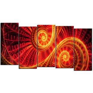 Design Art 'SunDance' 60 x 32-inch 5-panel Canvas Art Print