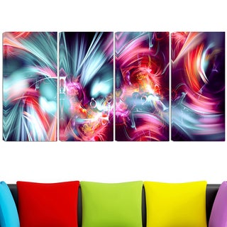 Design Art 'Take Me Over' 48 x 28-inch 4-panel Canvas Art Print