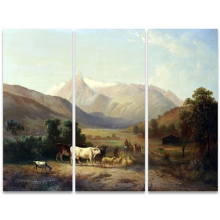Design Art 'A Day on the Ranch' 36 x 28-inch 3-panel Canvas Art Print