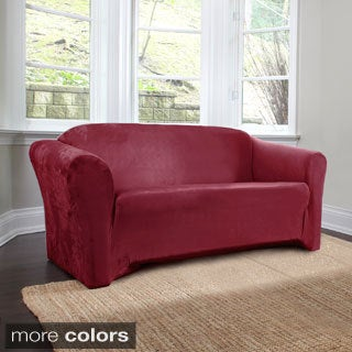 CoverWorks Harper 1-Piece Stretch Suede Loveseat Slipcover (3 options available)