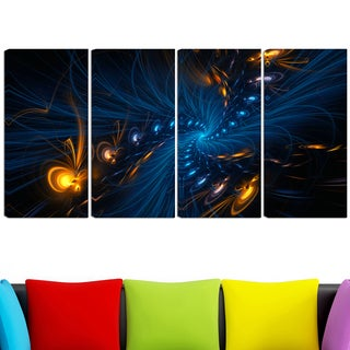 Design Art 'Illumination' 48 x 28-inch 4-panel Abstract Canvas Art Print