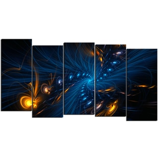 Design Art 'Illumination' 60 x 32-inch 5-panel Abstract Canvas Art Print