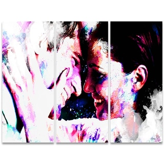 Design Art 'Always and Forever' 36 x 28-inch 3-panel Sensual Canvas Art Print