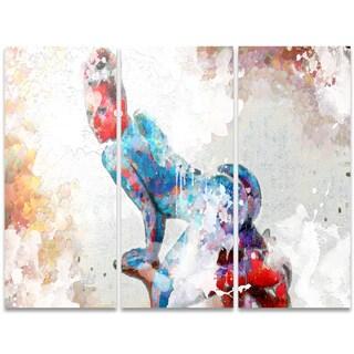 Design Art 'Seductive Pose' 36 x 28-inch 3-panel Sensual Canvas Art Print