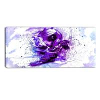 Design Art 'Purple Abstract Embrace' 32 x 16-inch Sensual Canvas Art Print