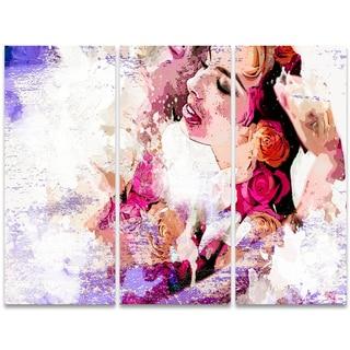 Design Art 'I Do' 36 x 28-inch 3-panel Sensual Canvas Art Print
