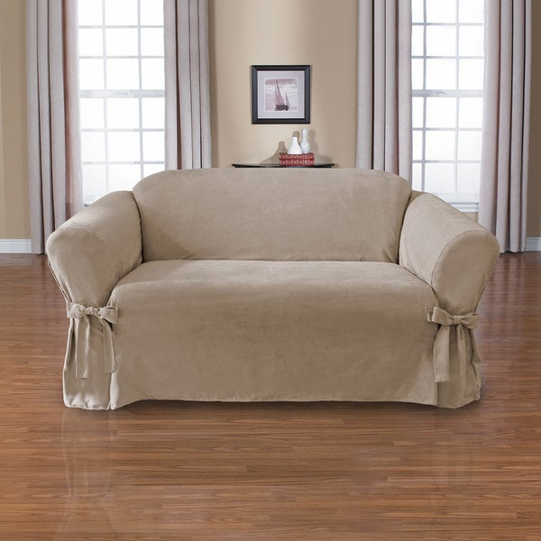 Shop Coverworks Sienna Suede 1 Piece Relaxed Fit Loveseat