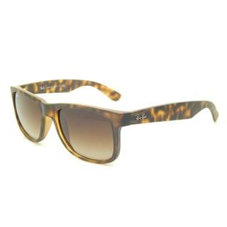 Ray-Ban Justin Wayfarer RB4165 Unisex Tortoise Frame Brown Gradient Lens Sunglasses