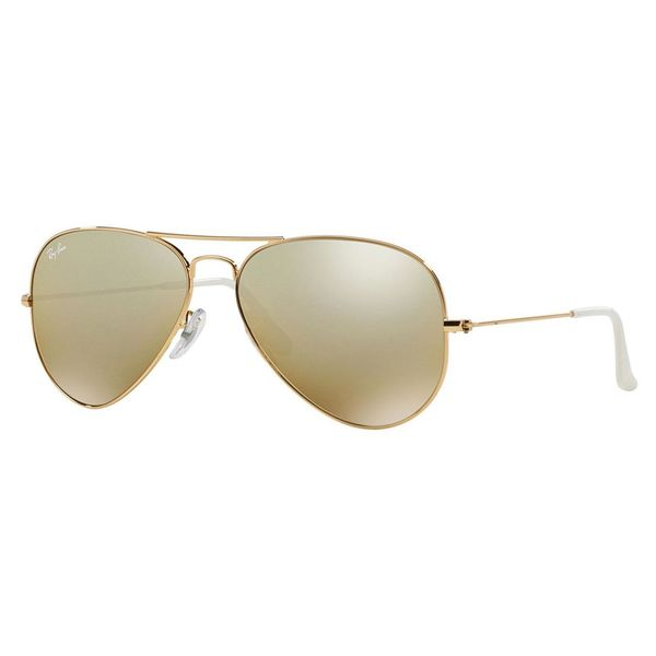 Rb3025 Aviator Sunglasses Gold Frame Crystal Gradient Bl : Ray-Ban Aviator RB3025 Unisex Gold Frame Brown Mirror ...