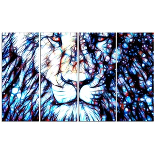 Design Art 'Leader of the Pack' 48 x 28-inch 4-panel Canvas Art Print