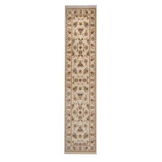 Herat Oriental Pakistani Hand-knotted Tabriz Wool Runner (2'7 x 11'7)