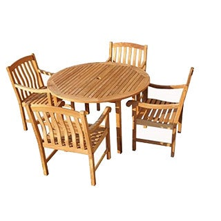 Savannah Collection 5-Piece Teak Dining Set