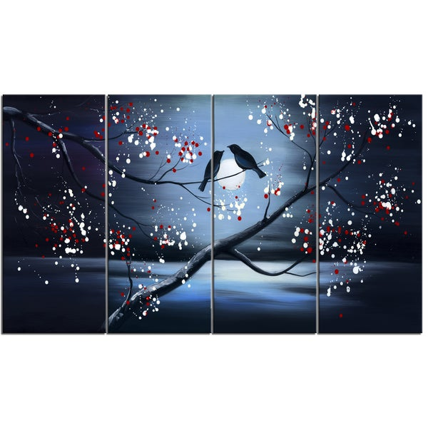 Design Art Together Forever Bird 48 X 28 Inch 4 Panel