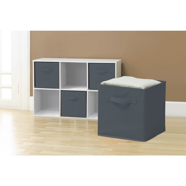 Attirant Grey Collapsible Storage Cubes (Pack Of 6)