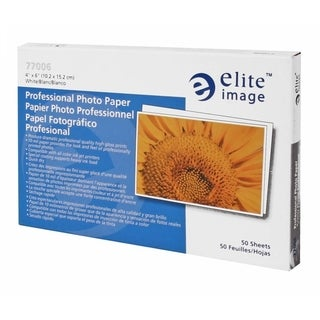Elite Image Professional 4x6 Photo Paper (Pack of 50)