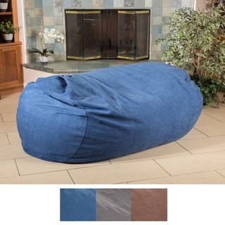 Christopher Knight Home Pascal Polyester 6.5-foot Lounge Beanbag Chair