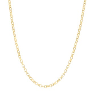 Gioelli Goldplated Sterling Silver Adjustable Rolo Chain