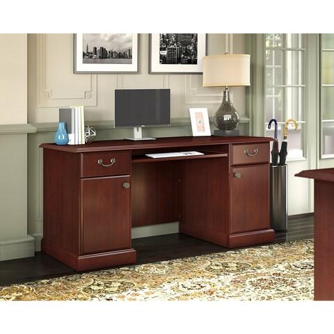 kathy ireland® Office by Bush Bennington Credenza in Harvest Cherry