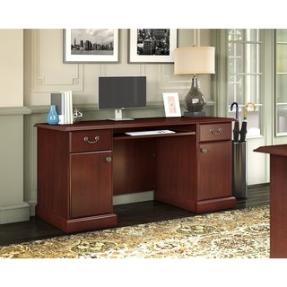 Kathy Ireland Office By Bush Bennington Credenza In Harvest Cherry