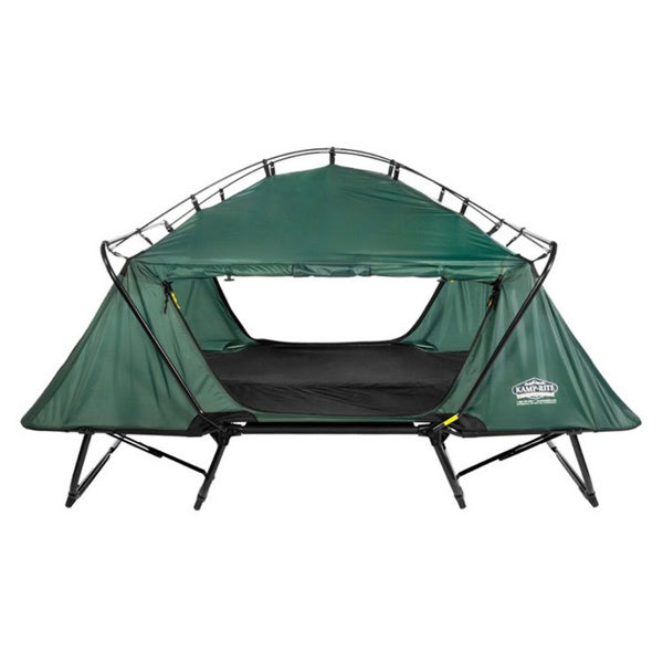 Kamp-Rite TB343 Green Double Tent Cot with Rainfly. Opens flyout.