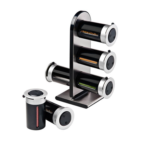 Zero Gravity Countertop Magnetic Spice Stand, Black - Free Shipping On ...