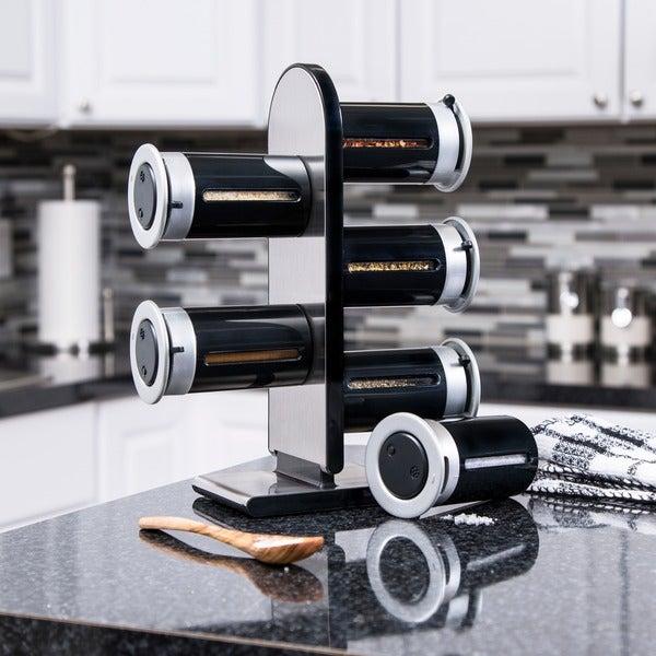 Zero Gravity Countertop Magnetic Spice Stand, Black