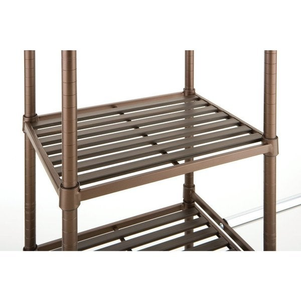 Seville Classics Expandable Closet Organizer System   Free Shipping Today    Overstock.com   17439113