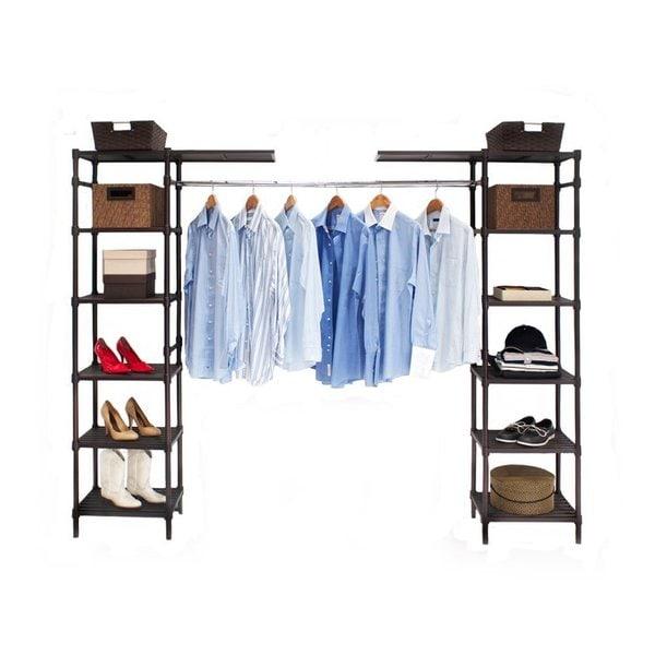 Seville Classics Expandable Closet Organizer System Free
