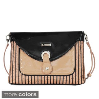 Joanel Striped Flap-over Crossbody