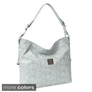 Joanel Faux Snakeskin Hobo Bag